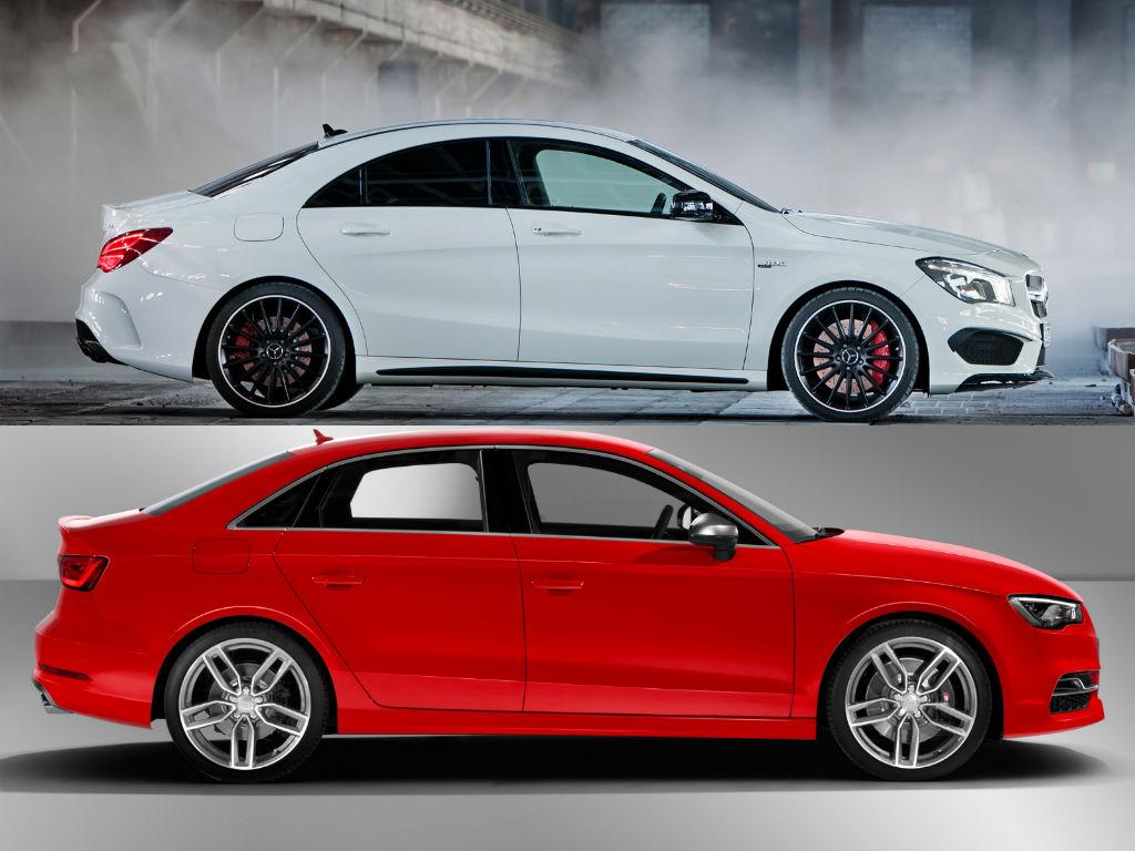 Mercedes Benz Cla 45 Amg Vs Audi S3 Speedo Acceleration