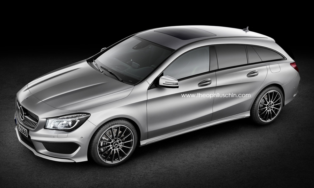 mercedes benz cla shooting brake to debut at the 2014 paris motor show in october autoevolution. Black Bedroom Furniture Sets. Home Design Ideas