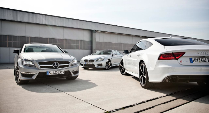 Mercedes-Benz CLS 63 AMG vs BMW M6 Gran Coupe vs Audi RS7
