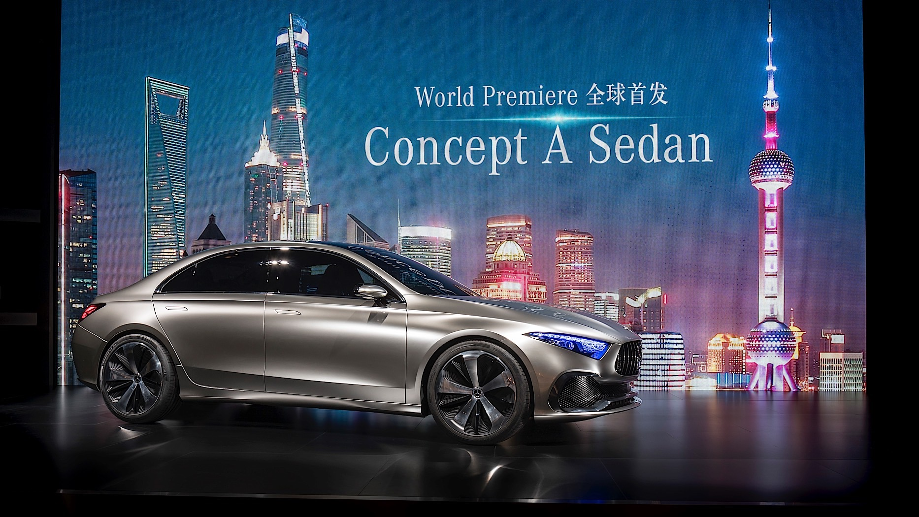 Mercedes Benz Concept A Sedan Previews Future Production Model