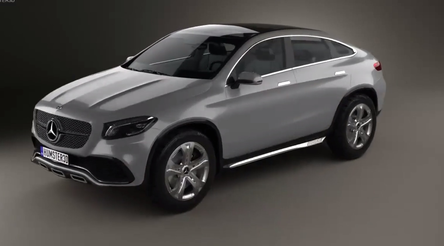 Mercedes benz concept coupe suv in 3d looks a bit porky for Mercedes benz coupe suv