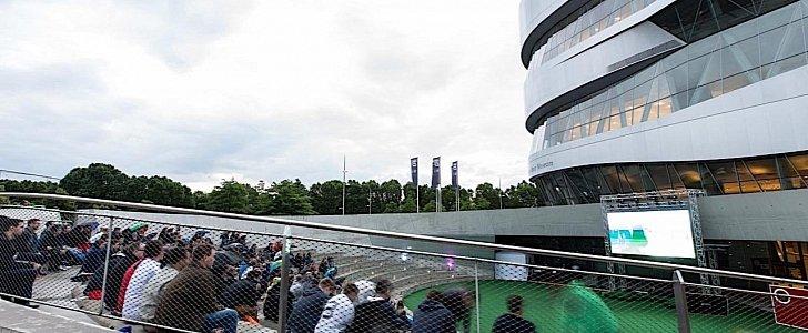 Mercedes benz creates football oasis in stuttgart for 2018 for Mercedes benz football