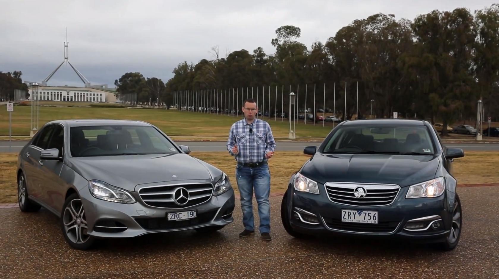 Mercedes Benz E200 Versus Holden Vf Calais By Motoring