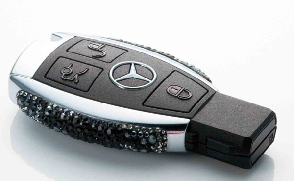 Mercedes benz embellishes its keys with swarovski crystals for Key for mercedes benz cost