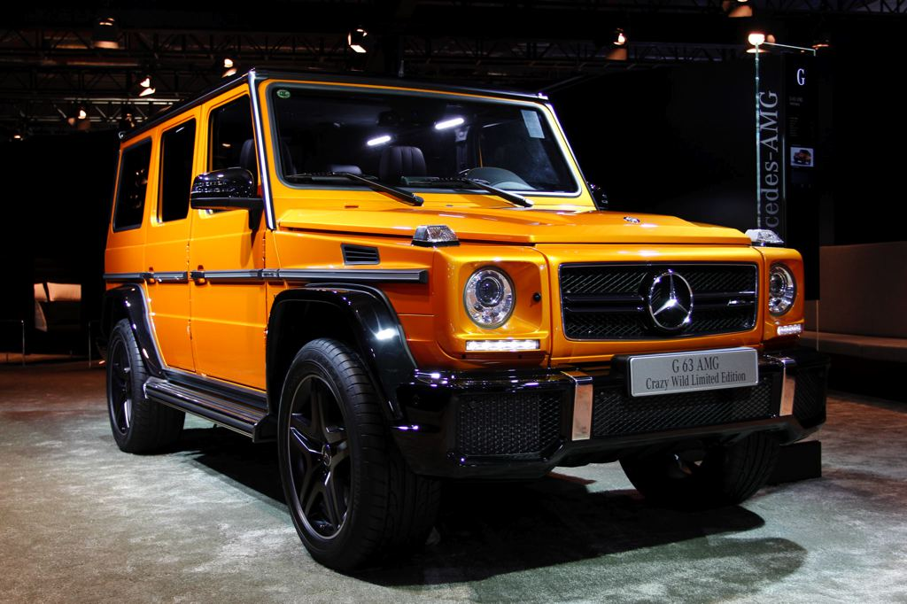 Mercedes benz g63 amg crazy wild edition shines at auto for How much is a mercedes benz g63