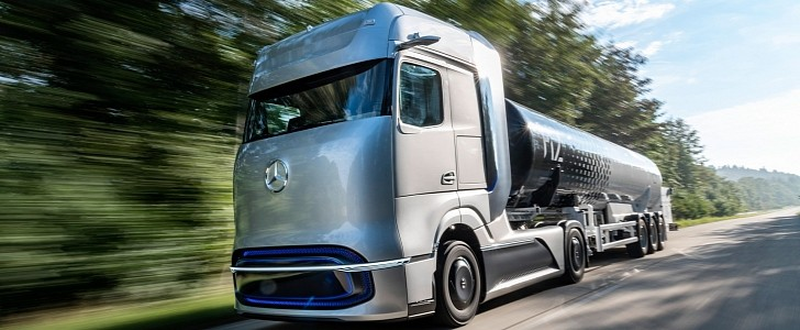 Mercedes-Benz GenH2 Truck Signals 2025 Fuel-Cell Long-Hauler With 1000 KM Range - autoevolution