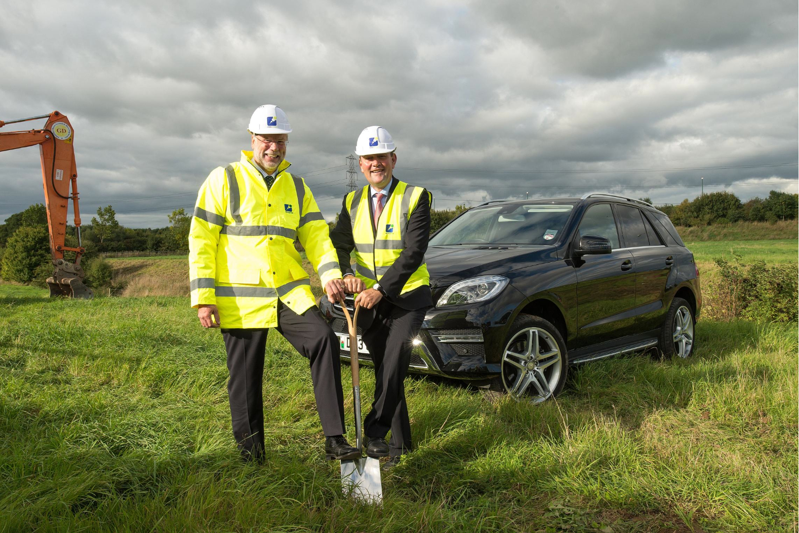 Great Ken Forbes And Marcus Breitschwerdt Broke Ground On The New Site. An Artist  Impression Of Mercedess Benz Shrewsbury
