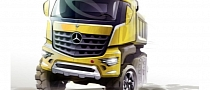 Mercedes-Benz Previews New Range of 'Arocs' Trucks