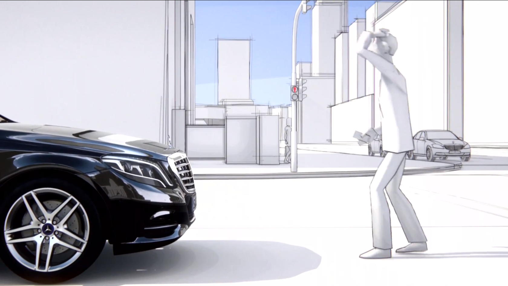 Mercedes benz releases new safety tech short films for Mercedes benz safety