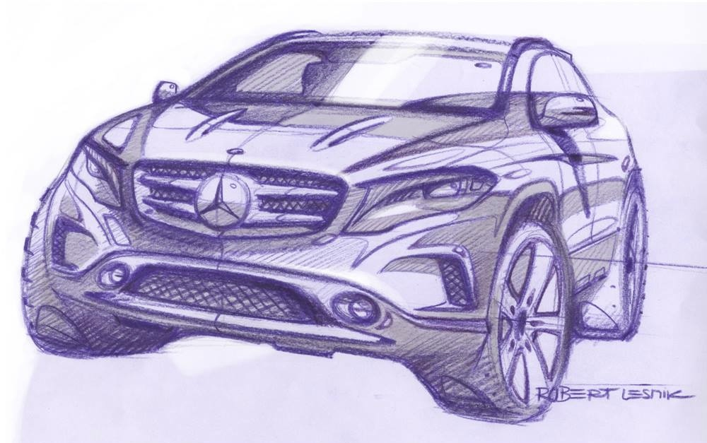 Mercedes benz releases upcoming gla official sketches for Mercedes benz press release