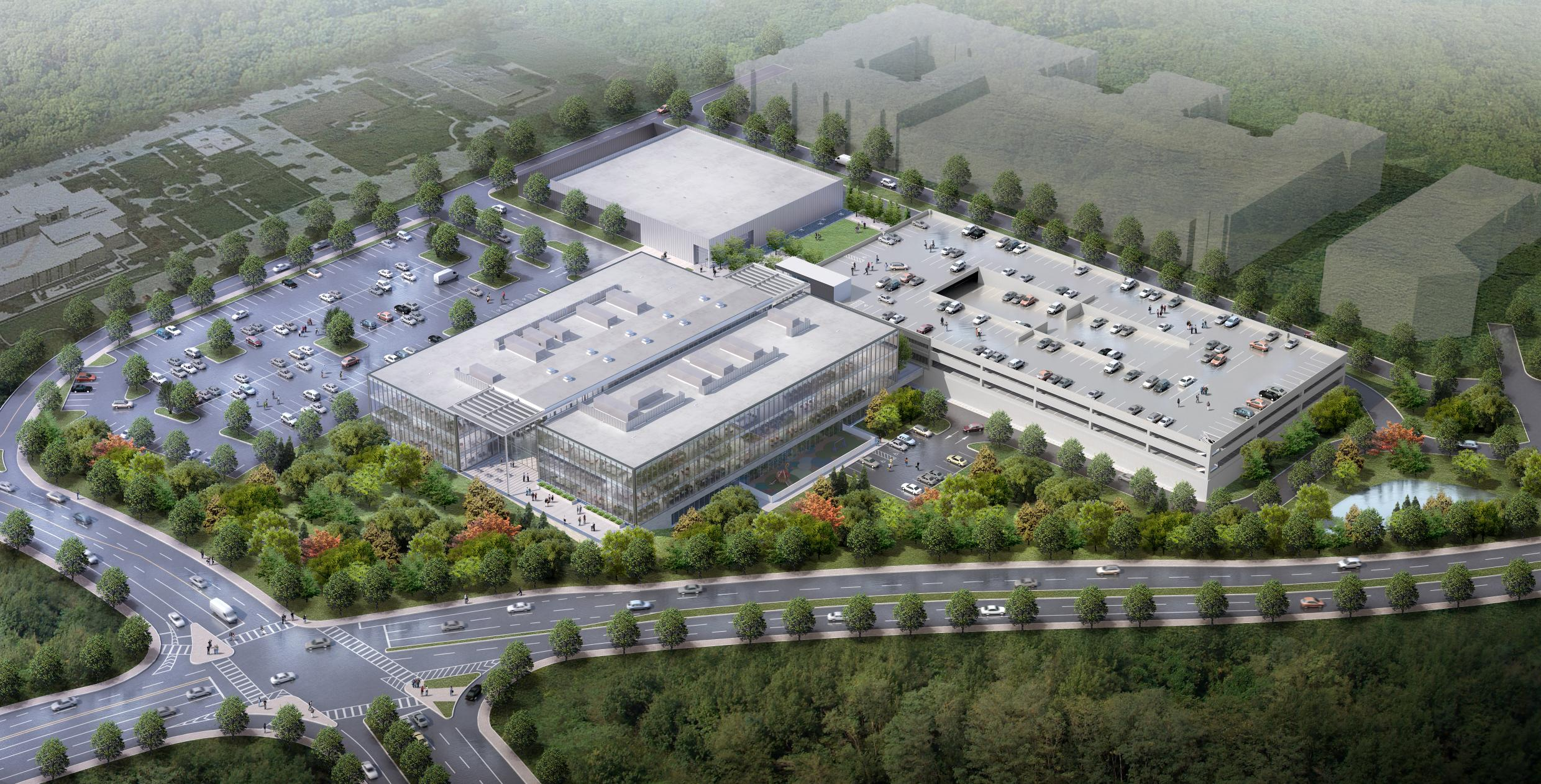 Mercedes benz reveals first rendering of its sandy springs for Mercedes benz manufacturing plant in usa