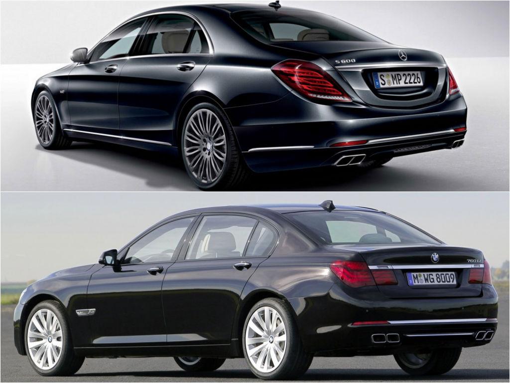 Mercedes benz s 600 v222 vs bmw 760li f02 specs comparison for Mercedes benz or bmw