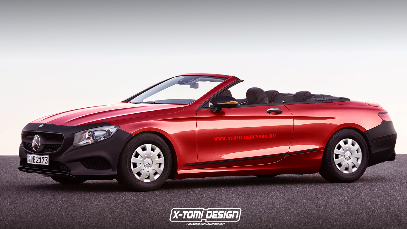 mercedes benz s class cabrio rendered in base spec version comes from parallel universe. Black Bedroom Furniture Sets. Home Design Ideas