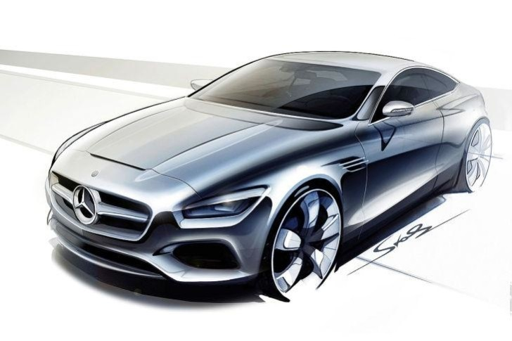 Mercedes-Benz S-Class Coupe Sketches Surface [Photo Gallery]