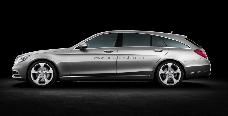 Mercedes-Benz S-Class W222 Shooting Brake Rendering