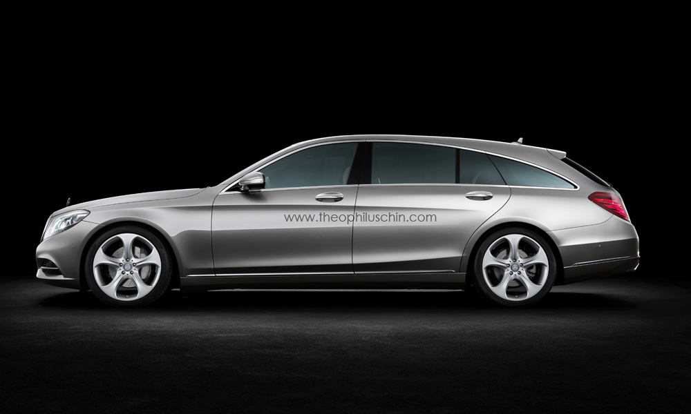 mercedes benz s class w222 shooting brake rendering autoevolution. Black Bedroom Furniture Sets. Home Design Ideas