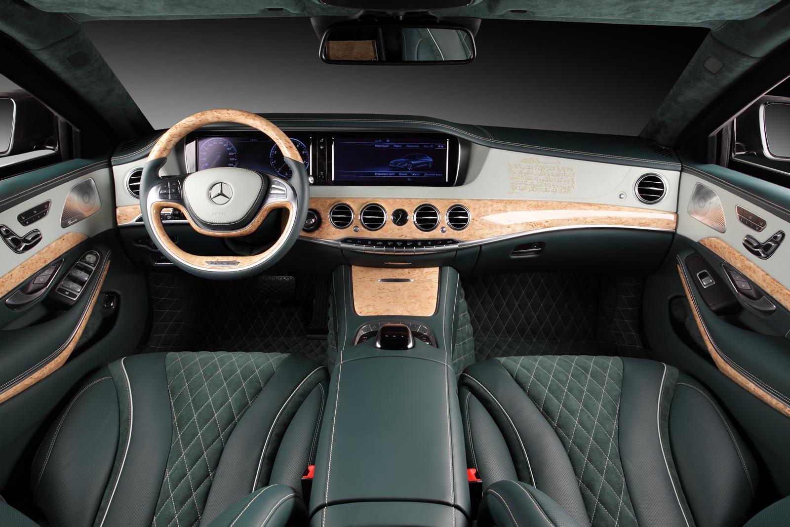 Mercedes Benz S600 Guard Interior Becomes Arab Story Via Topcar