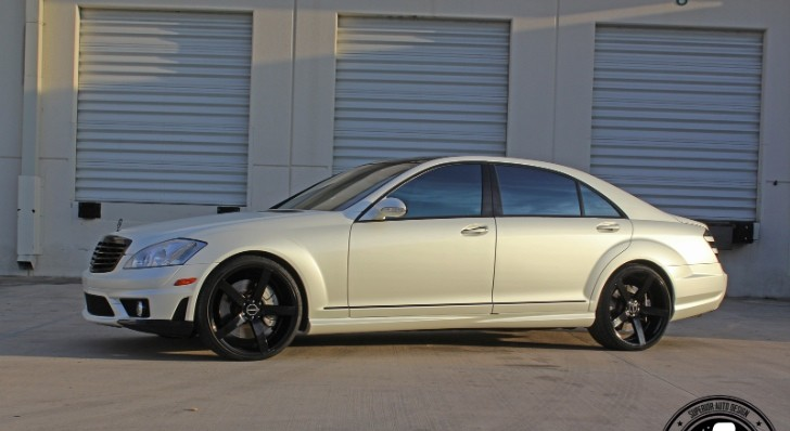 Mercedes-Benz S63 AMG Wrapped in White Pearl [Video][Photo Gallery]