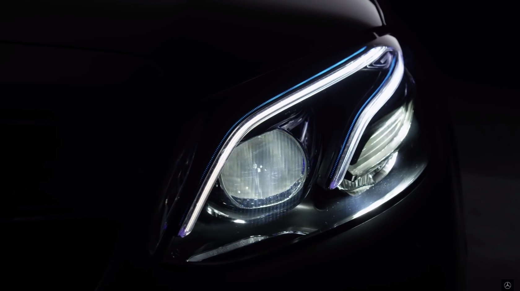 mercedes benz sheds some light on the new e class with a