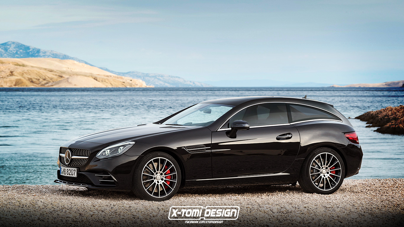 Mercedes benz slc shooting brake makes the bmw z3 breadvan for Bmw and mercedes benz