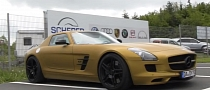 Mercedes-Benz SLS AMG Gets Matte Gold Wrap [Video]