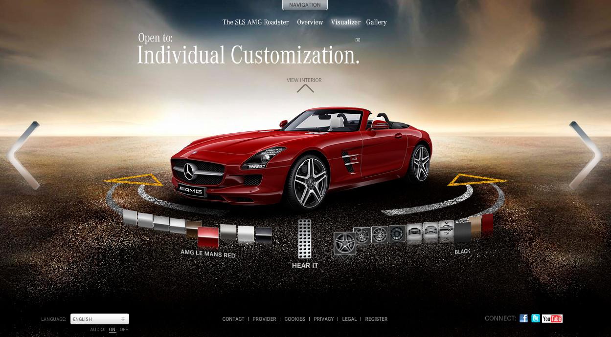 mercedes benz sls amg roadster online configurator launched