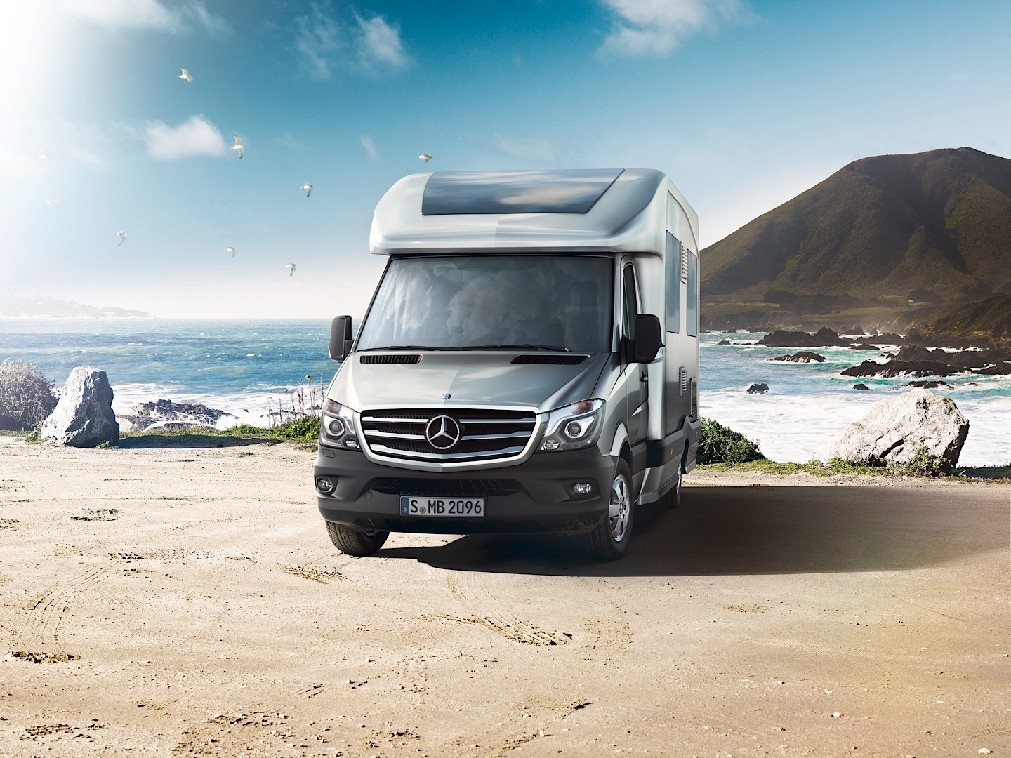 Mercedes benz takes over the 2013 caravan salon for Mercedes benz caravan