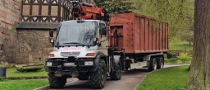 Mercedes-Benz Unimog Fetches Wood Like No Other