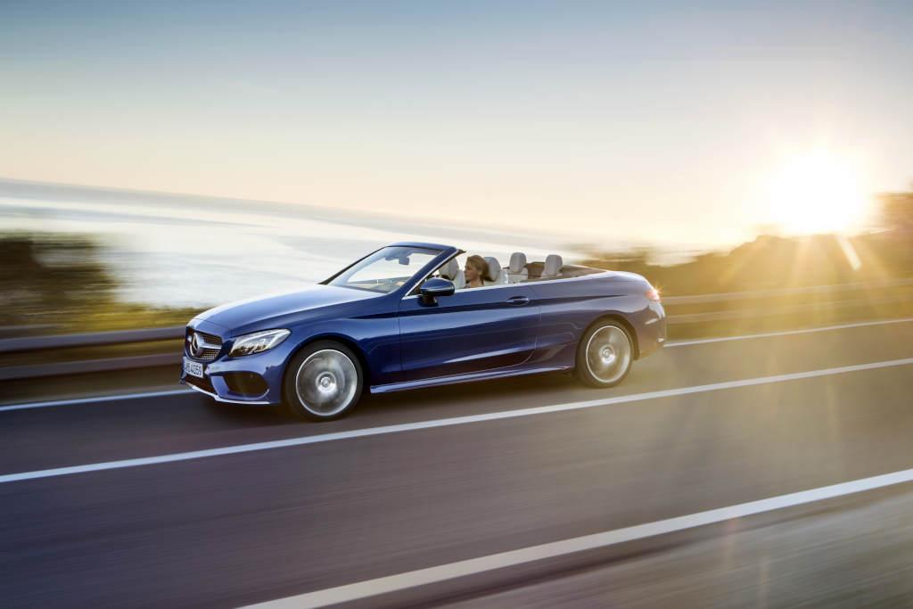 Mercedes benz unveils its c class cabriolet range for Mercedes benz amg range