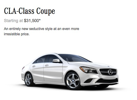 Mercedes bumps cla class base price to 31 500 in america for Mercedes benz a class usa
