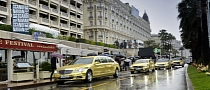 Mercedes-Benz Uses Gold-Wrapped Cars for Cannes International Film Festival