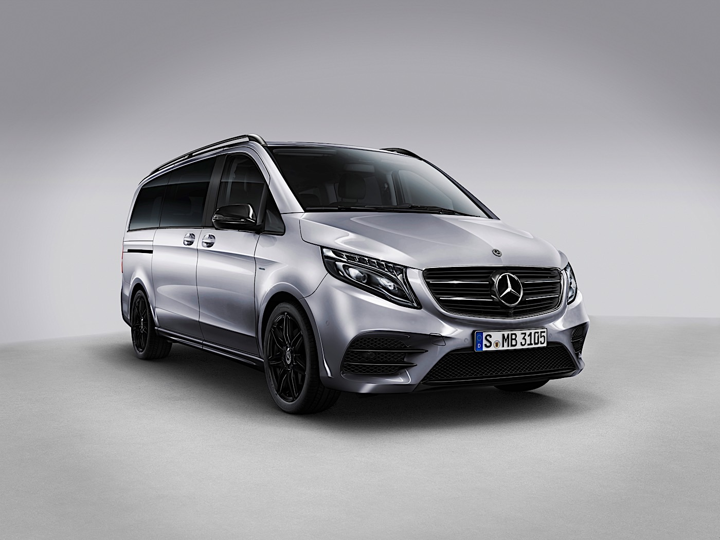 mercedes benz v class gets night edition ahead of facelift. Black Bedroom Furniture Sets. Home Design Ideas