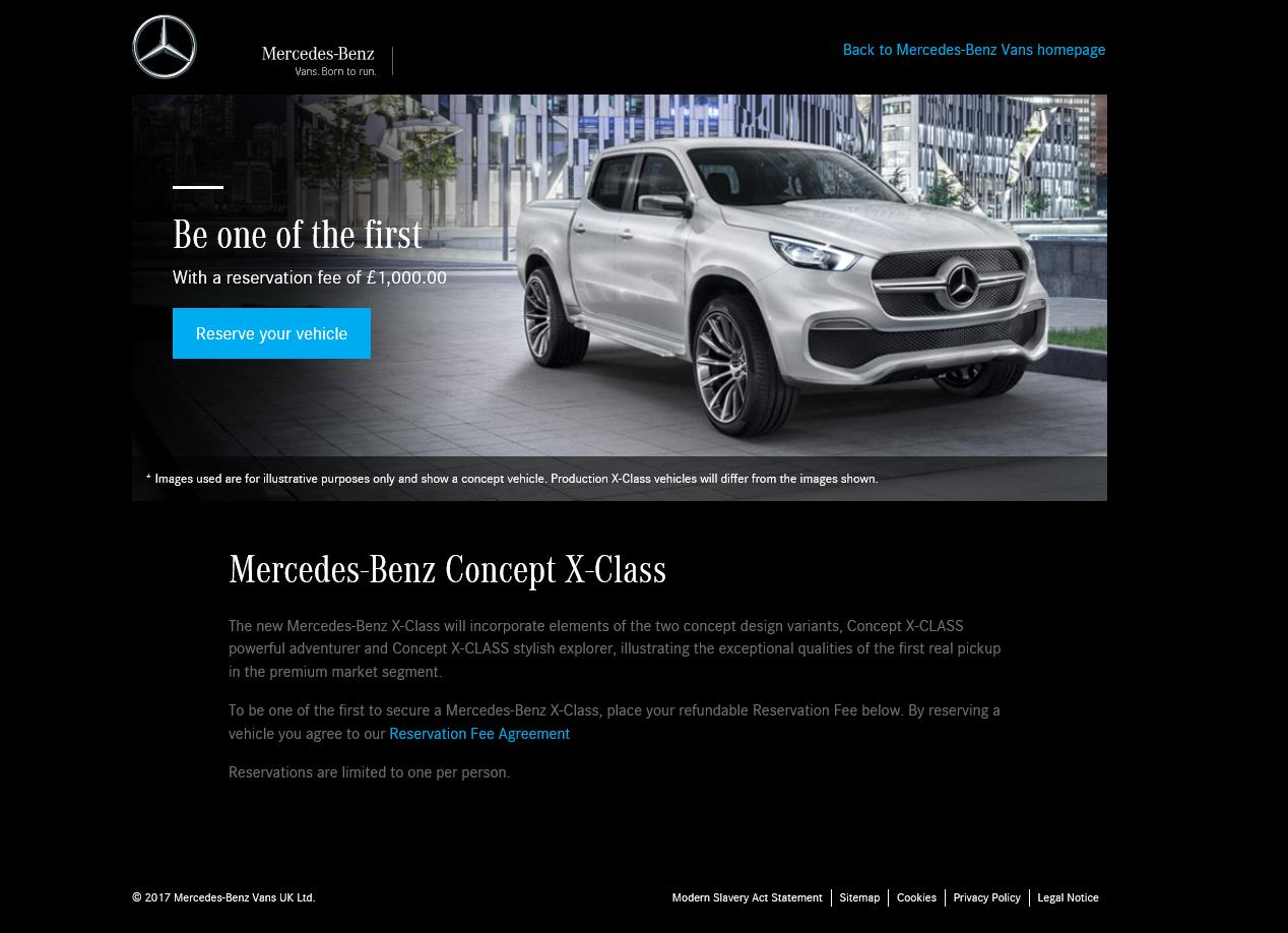 mercedes benz x class reservations are go reservation fee set at gbp 1 000 autoevolution. Black Bedroom Furniture Sets. Home Design Ideas