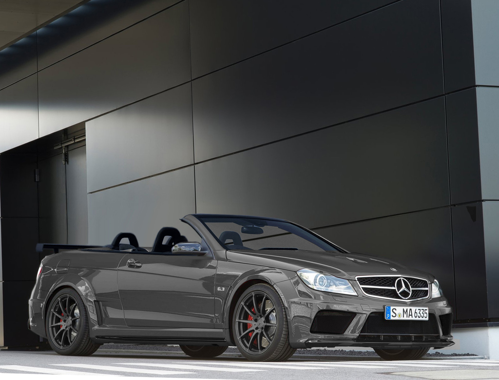 mercedes c63 amg black series convertible rendering