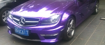 Mercedes C63 AMG Is a Shiny Purple Sedan in China