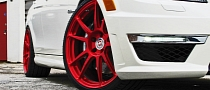 Mercedes C63 AMG on Candy Red HRE Wheels [Photo Gallery]