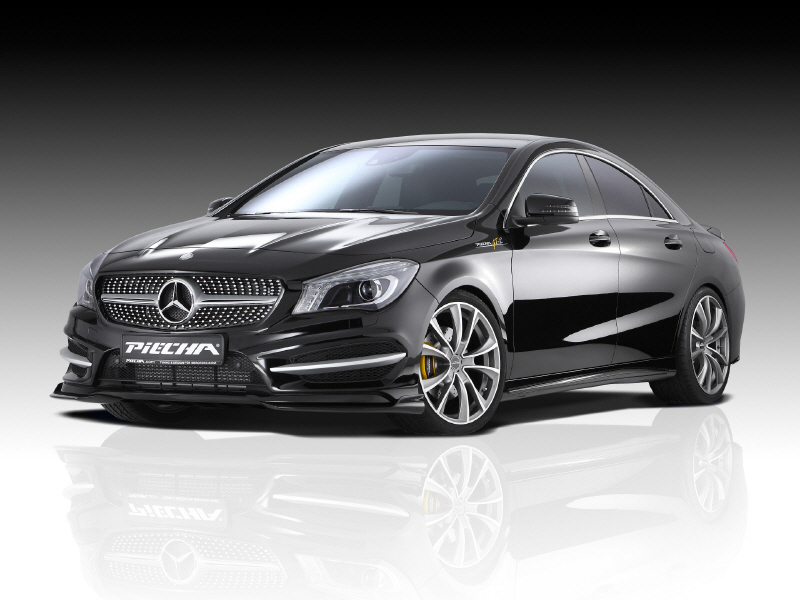 mercedes cla gets tuning package from piecha design. Black Bedroom Furniture Sets. Home Design Ideas