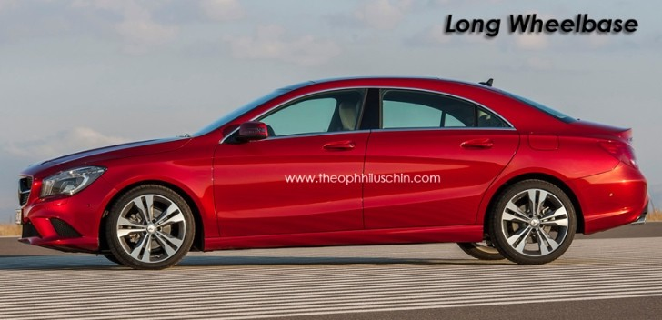 Mercedes CLA Long Wheelbase Rendering Released