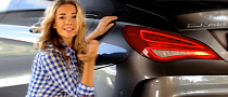 Mercedes CLA Reviewed by Sexy Russian Blonde Anastasia Tregubova [Video]