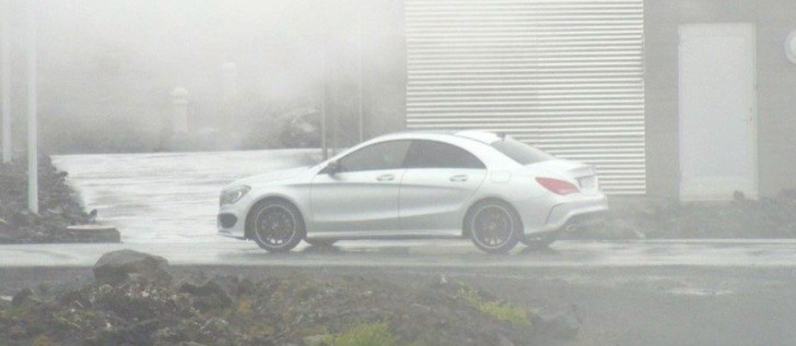 Mercedes CLA Spotted Undisguised in Iceland