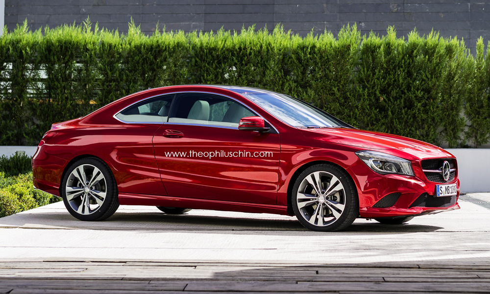 mercedes cla two door coupe rendering autoevolution