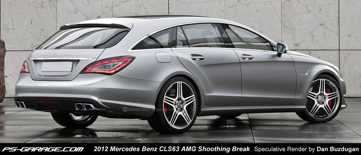 mercedes cls 63 amg shooting brake rendering released autoevolution. Black Bedroom Furniture Sets. Home Design Ideas