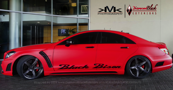 Mercedes CLS Black Bison in Matte Red [Video] [Photo Gallery]