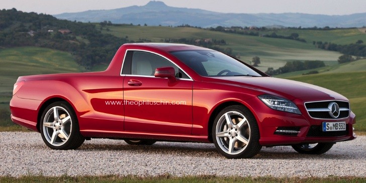 Mercedes CLS Rendered as Australian Ute