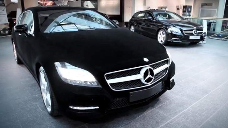 Mercedes CLS Shooting Brake Wrapped in Velvet [Video]