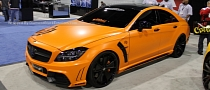 Mercedes CLS550 Black Bison Wrapped in Orange by DBX [Video] [Photo Gallery]