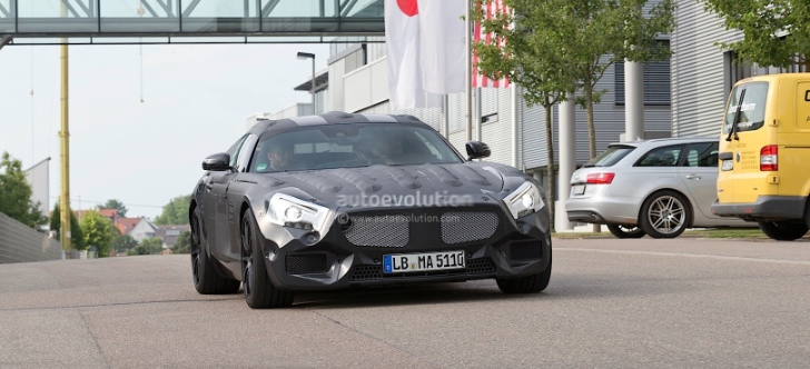 Mercedes Confirms SLC AMG Sportscar (C190) by Releasing Spyshots