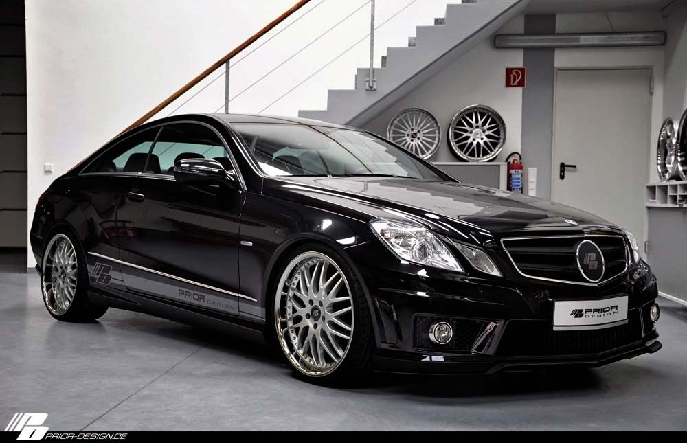 mercedes e klasse coupe refined by prior design. Black Bedroom Furniture Sets. Home Design Ideas
