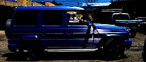 Mercedes G-Class Wrapped in Blue Brushed Metallic [Photo Gallery]