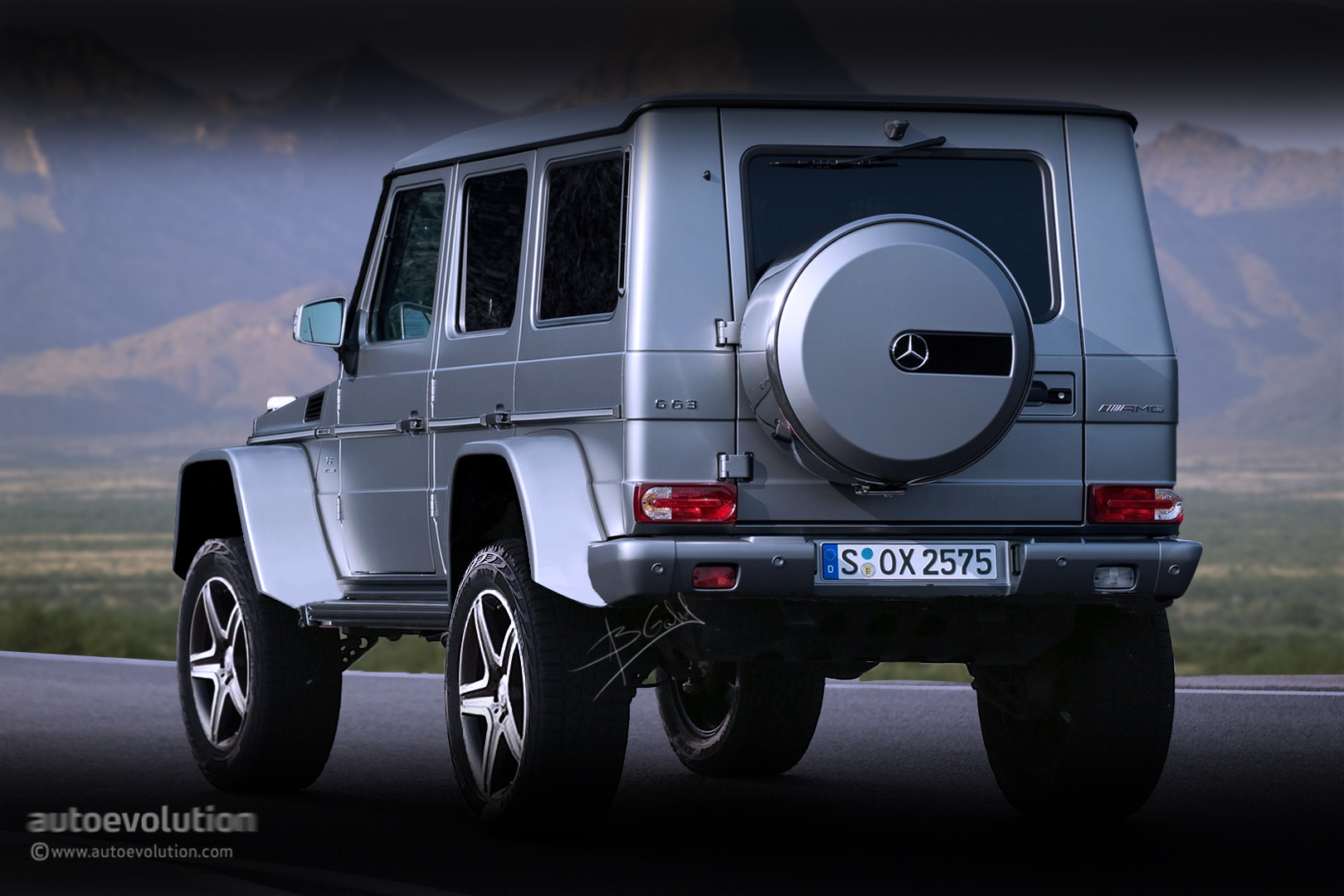 mercedes g63 amg 4x4 version of g63 amg 6x6 rendered ahead of 2015 debut autoevolution. Black Bedroom Furniture Sets. Home Design Ideas